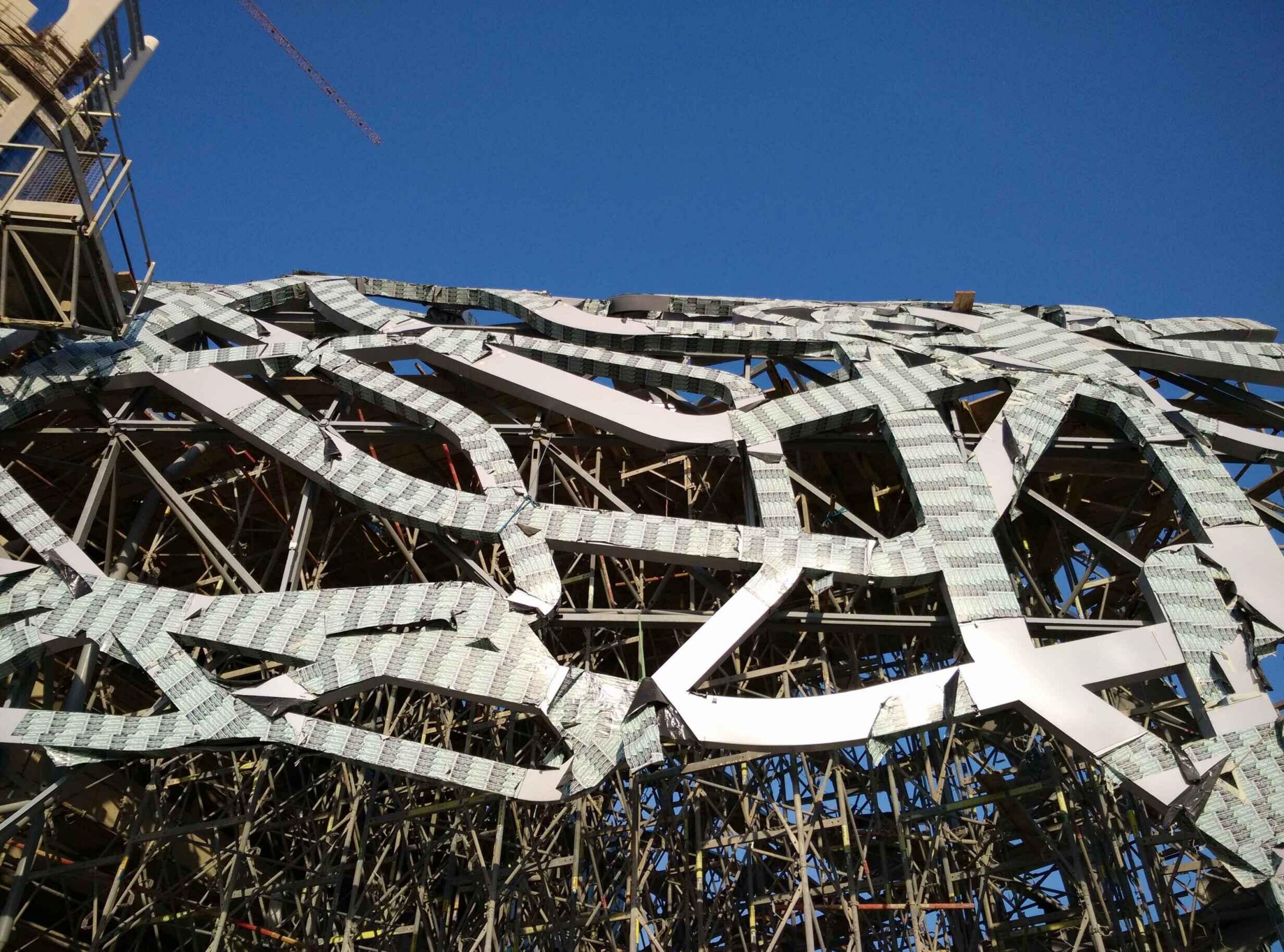 多哈獵鷹塔鳥巢造型板