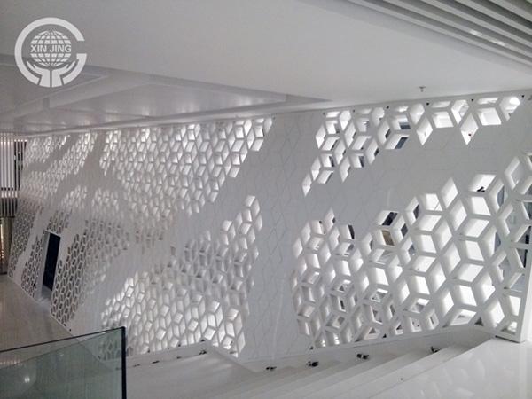 深圳立体菱形装饰墙
