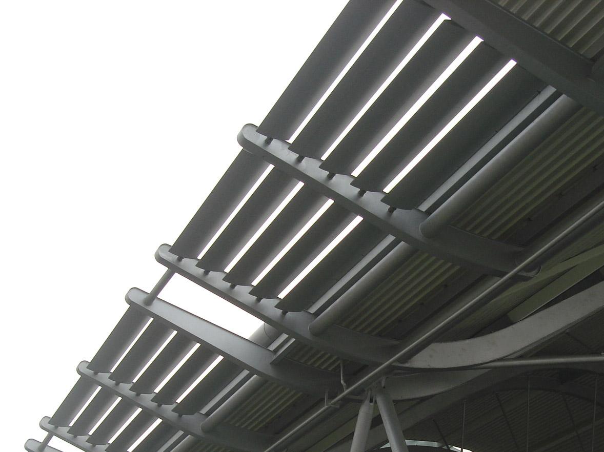 水平固定式遮陽架