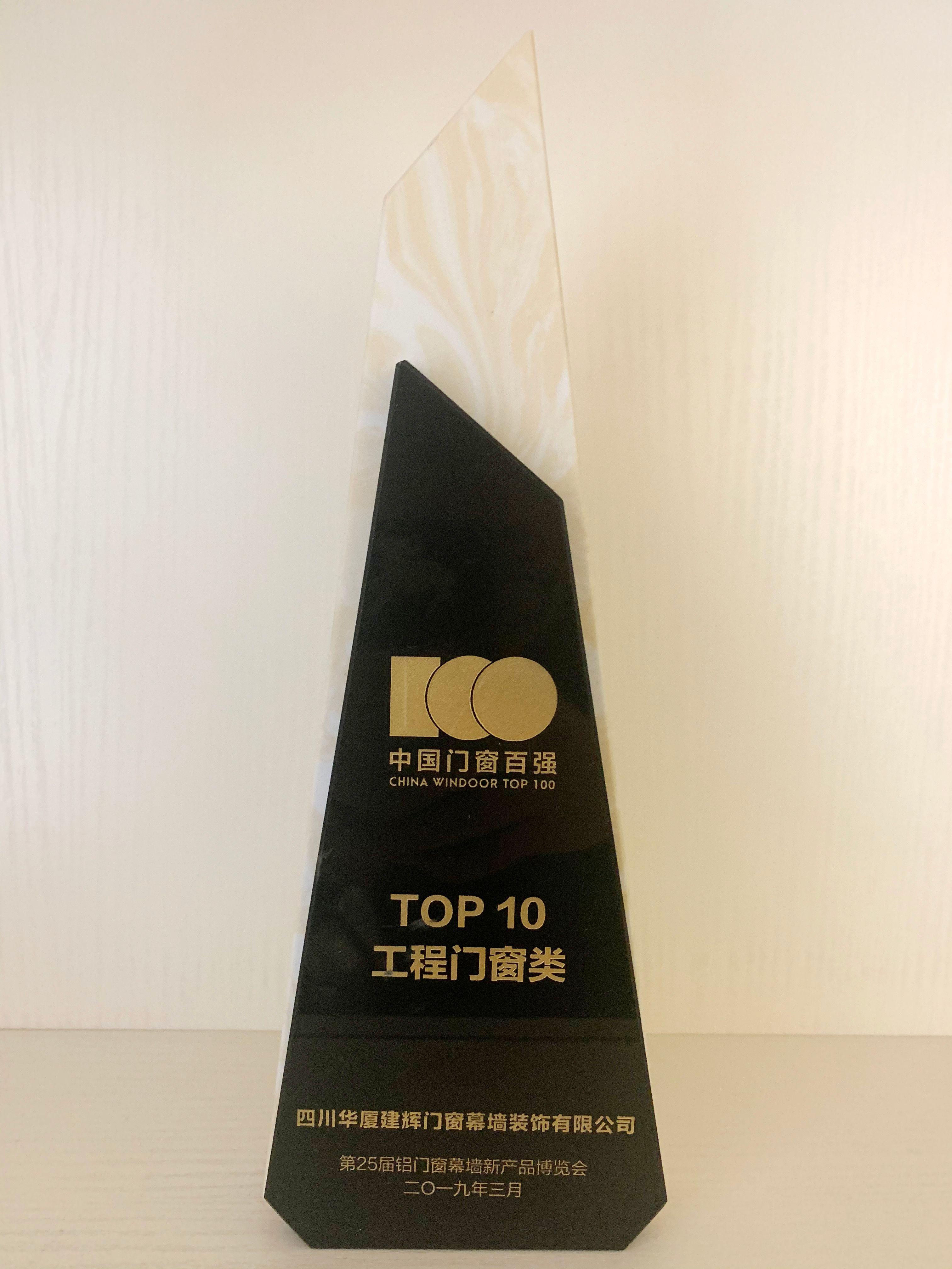 中国门窗百强TOP10