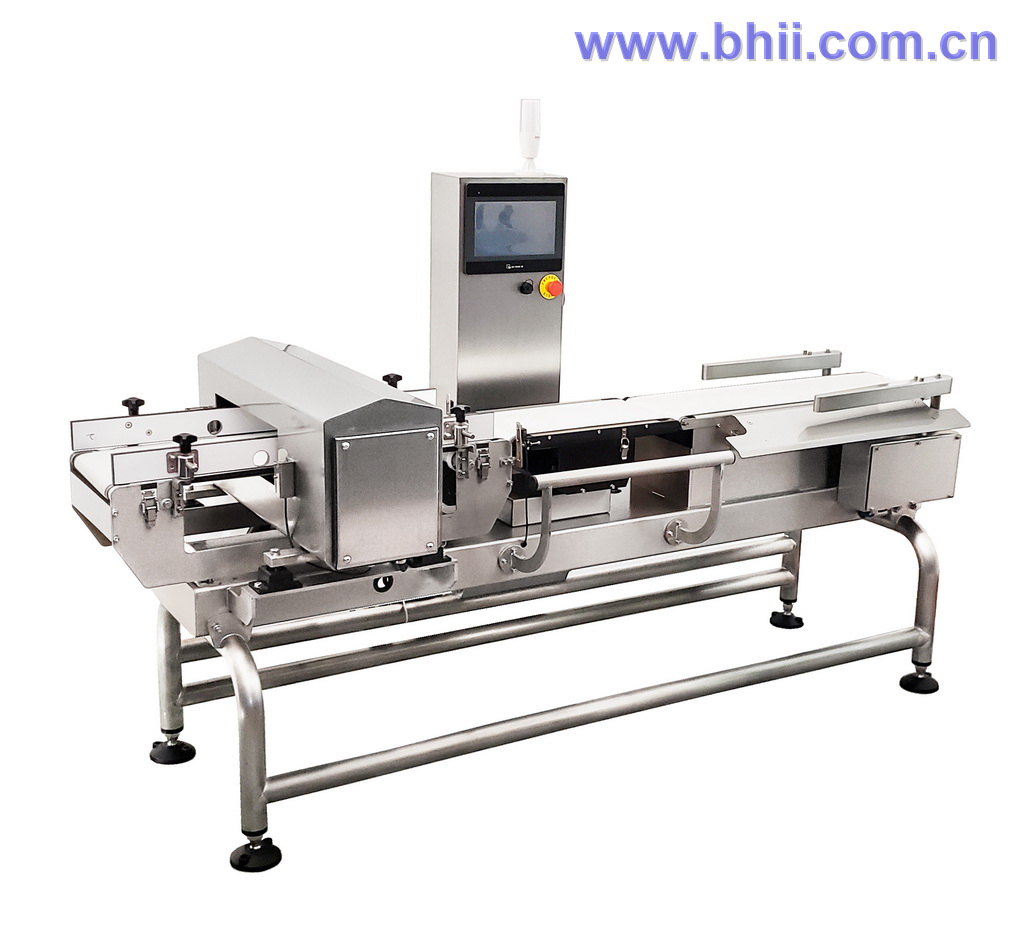 Combo - Metal Detector Checkweigher  (Integrated HMI) for food/poultry/confectionary/snack