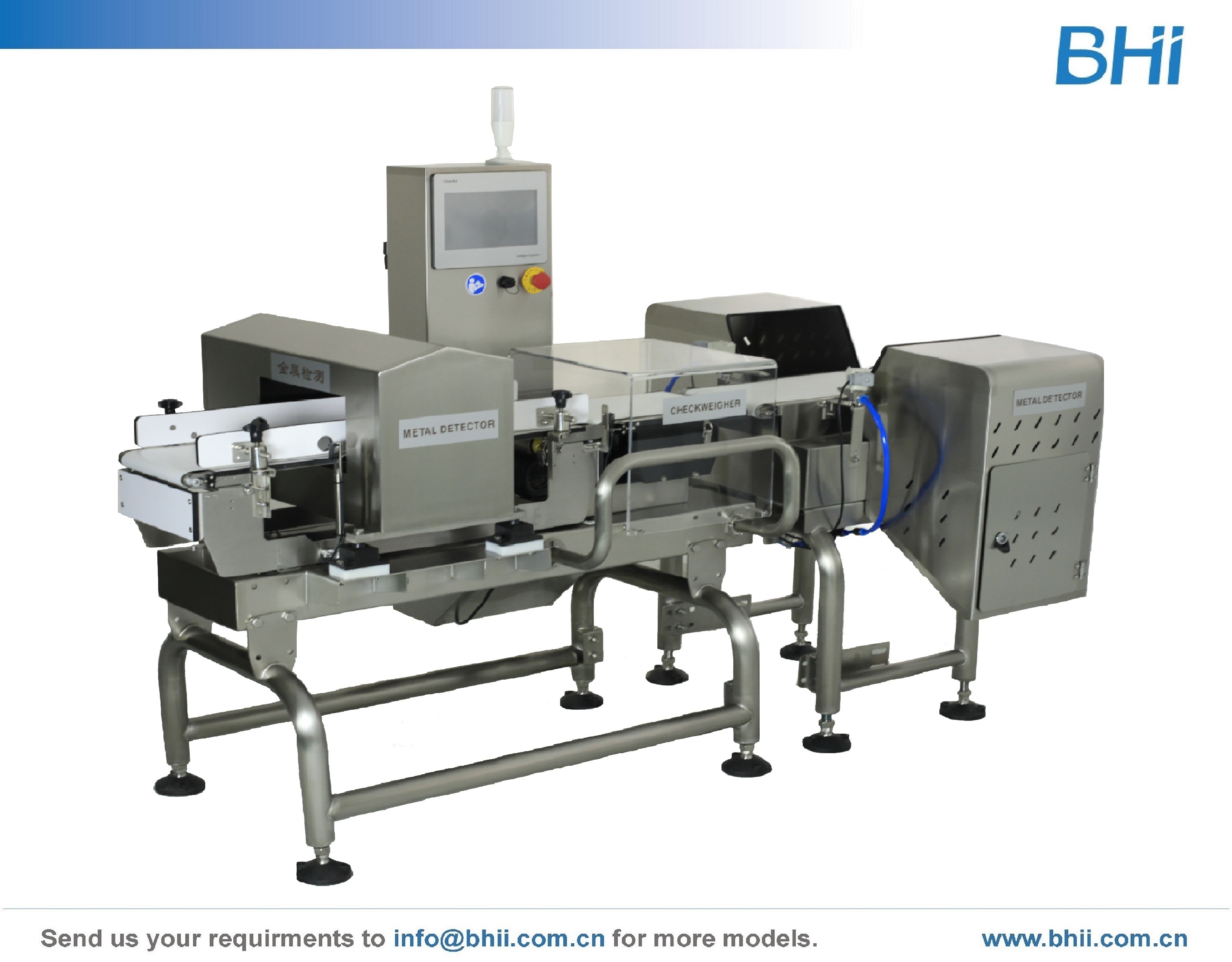 Combo Checkweigher with Metal Detector