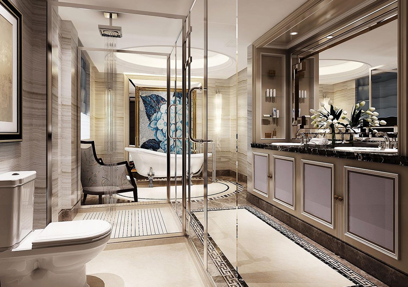 穆天子别墅卫生间-400方-美式