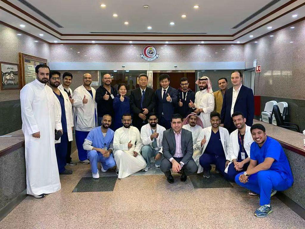 沙特阿拉伯KingAbdulazizMedicalcity结石微创手术学习班