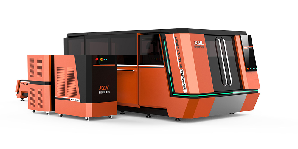 XQL-3015P Full prutection and high-speed fiber laser cutting machaine