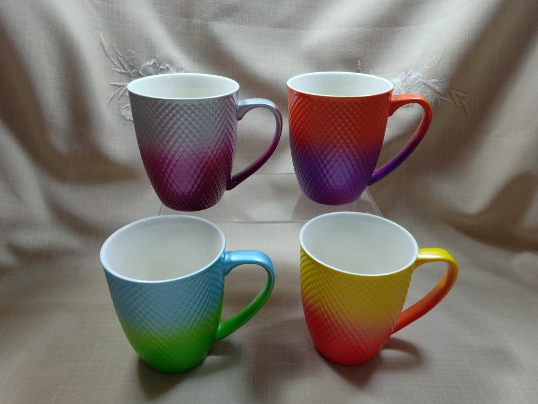 炫彩格纹杯