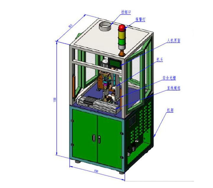 汽车电子配件多点焊接自动点焊机