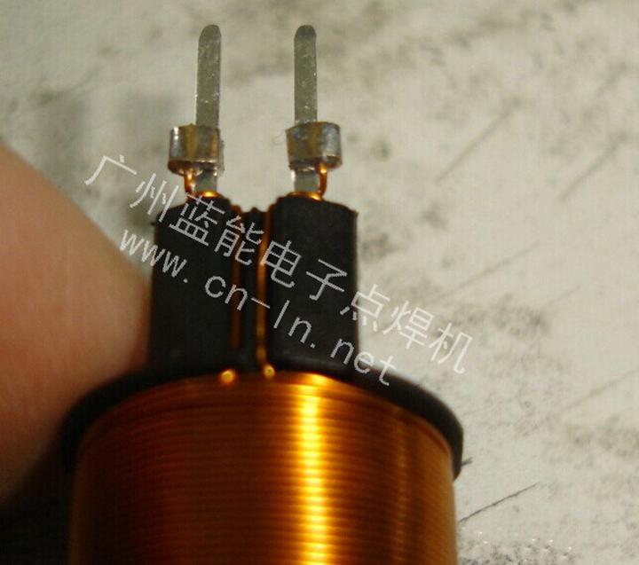 电磁阀线圈漆包线铜钩子焊接点焊机