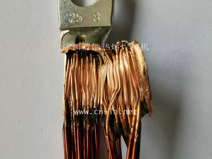 新能源电机铜端子引线焊接效果