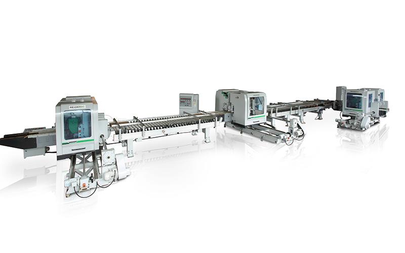 RMD+RMD+RMD 双端铣 + 双端铣 + 双端铣生产线