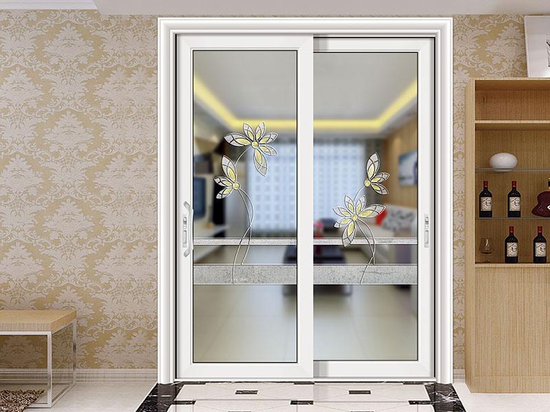 智和推拉门 宫廷白 艺术玻璃(以门店价格为准)