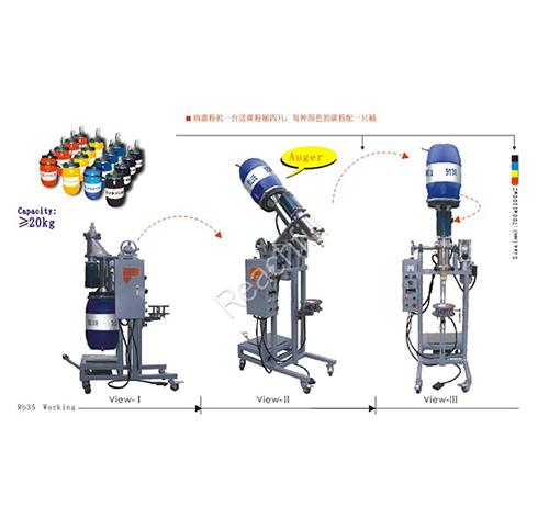WQ-RB35 over-turn color toner filling machine