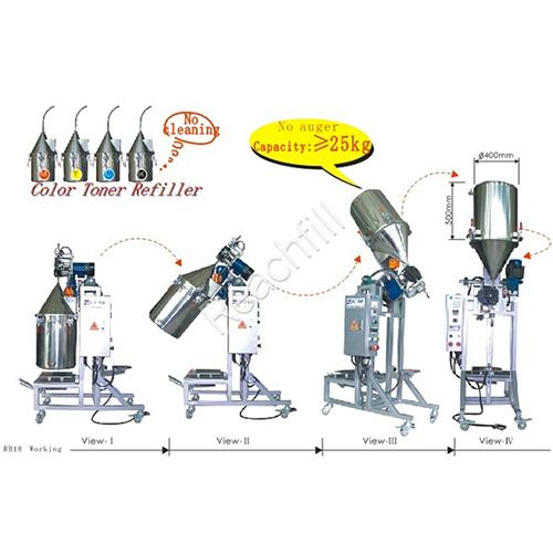 WQ-RB18dust free toner powder filling machine