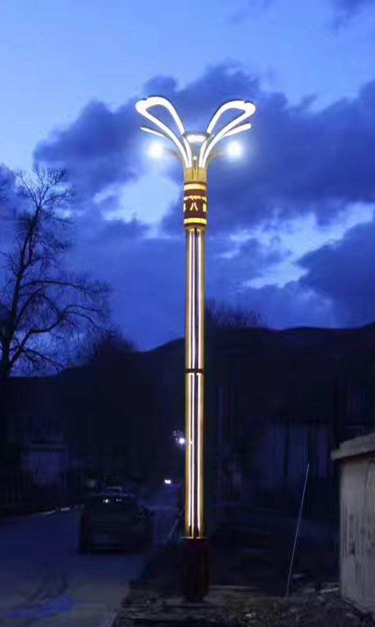 八美镇路灯项目