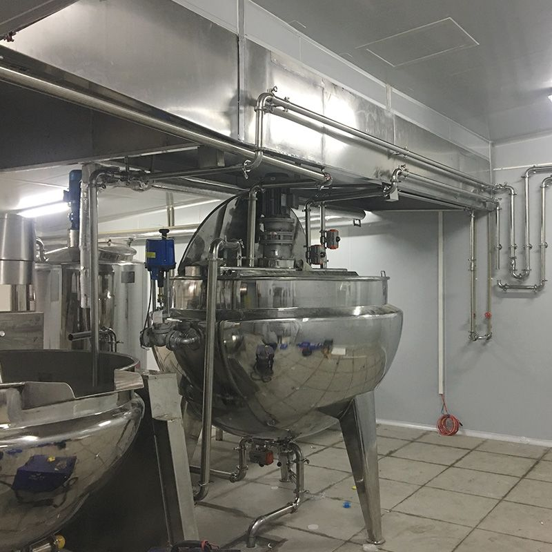 瓶装辣椒酱生产线设备 牛腩酱加工设备 酱料生产设备辣酱夹层炒锅