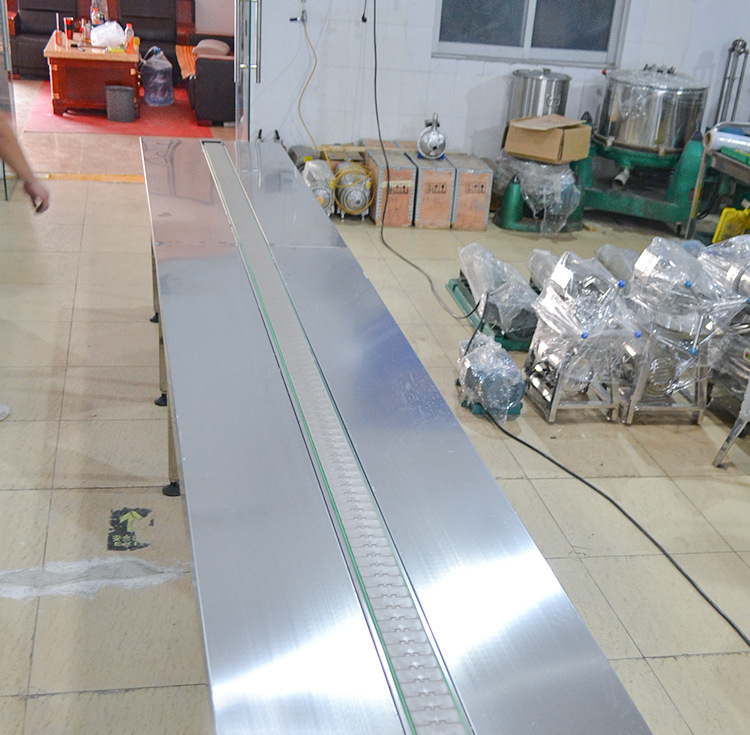 Straight line conveyor belt-honey production line conveyor equipment food transmission line pipeline