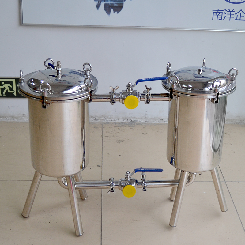 Guangzhou stainless steel sanitary double filter - liquid filter - beverage filter juice filter equi