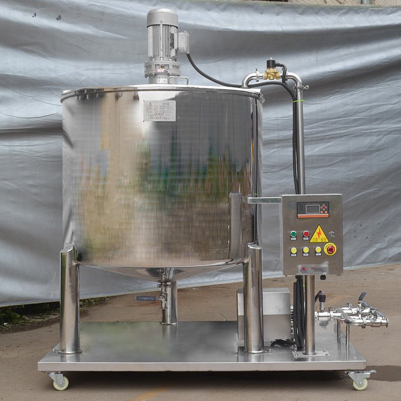 Automatic mixing tank 500l stainless steel single-layer mixing drum with accurate quantitative deliv
