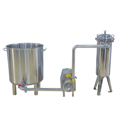 Stainless steel drum - sanitary pump - bag filter - juice filter transport equipment