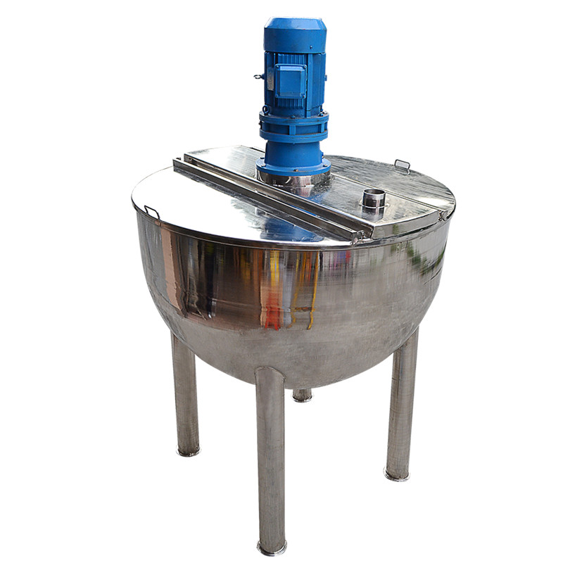 High quality stainless steel electric heating mixing drum 100 liters with liquid tank glue mixing mi