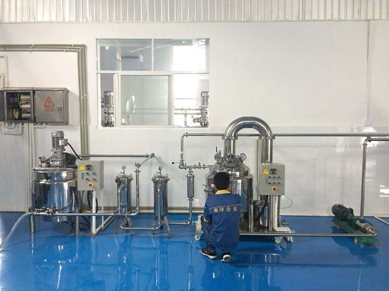 Guangzhou lanyang direct sell honey lemon tea filling line - automatic filling production line