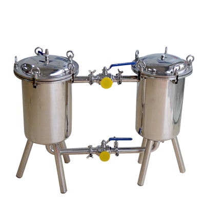 Duplex filter for liquid material/filters for honey processing/customized filtering machine