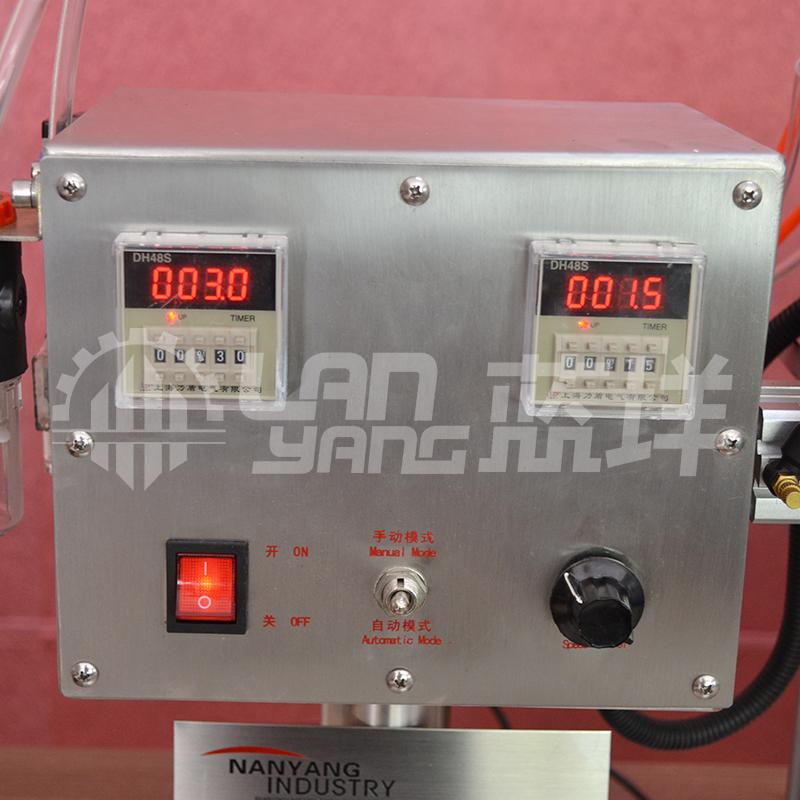 鸭嘴式拧盖机 广州半自动旋盖机电动封口机脚踏封口机 圆盖锁盖机