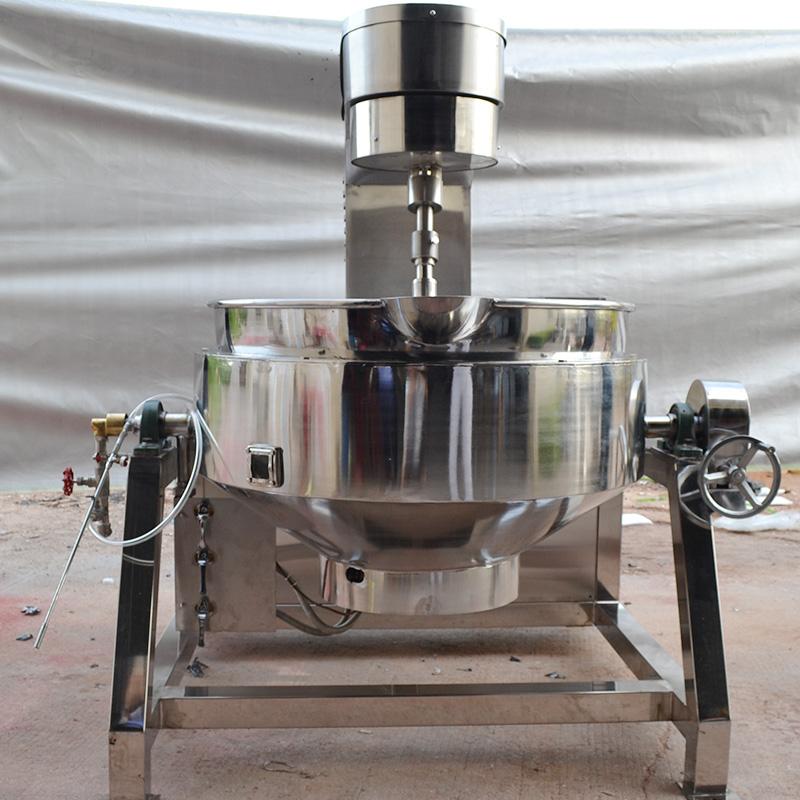老干妈酱炒制锅行星式夹层锅自动提升倒料现货 行星电磁夹层锅
