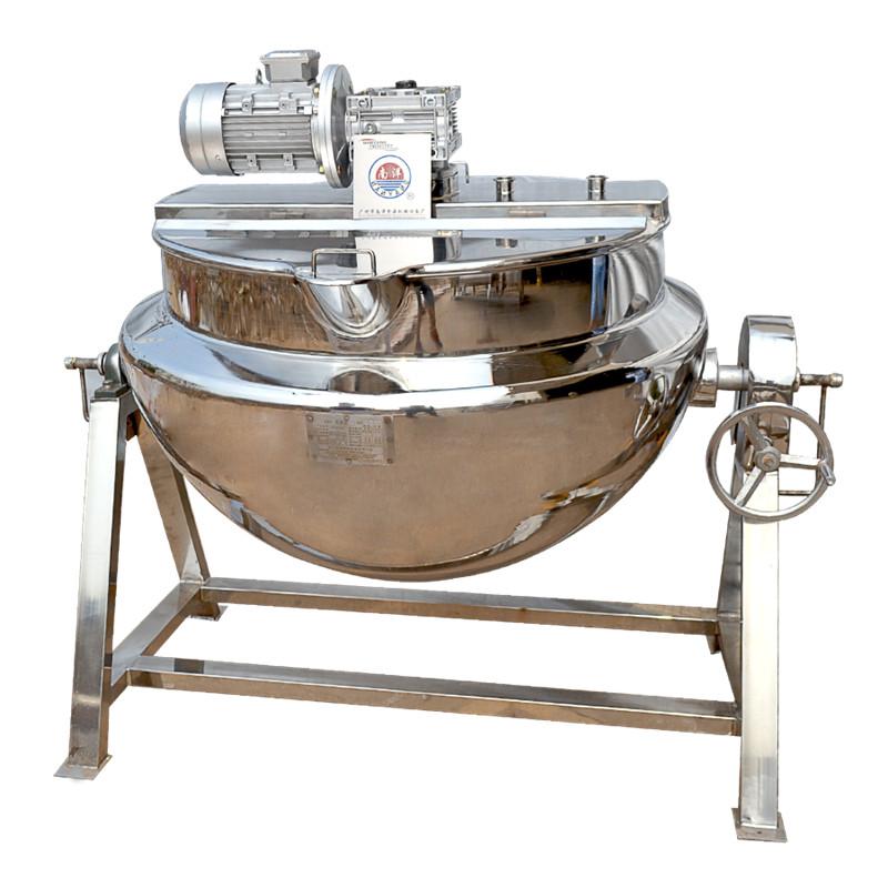 不锈钢蒸汽夹层锅 搅拌酱料搅拌煮锅火锅底料牛肉酱锅厂家直销