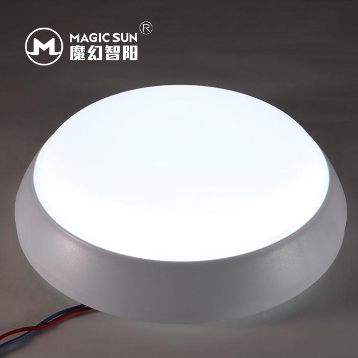 防水微波雷達感應LED吸頂燈單亮功能18W