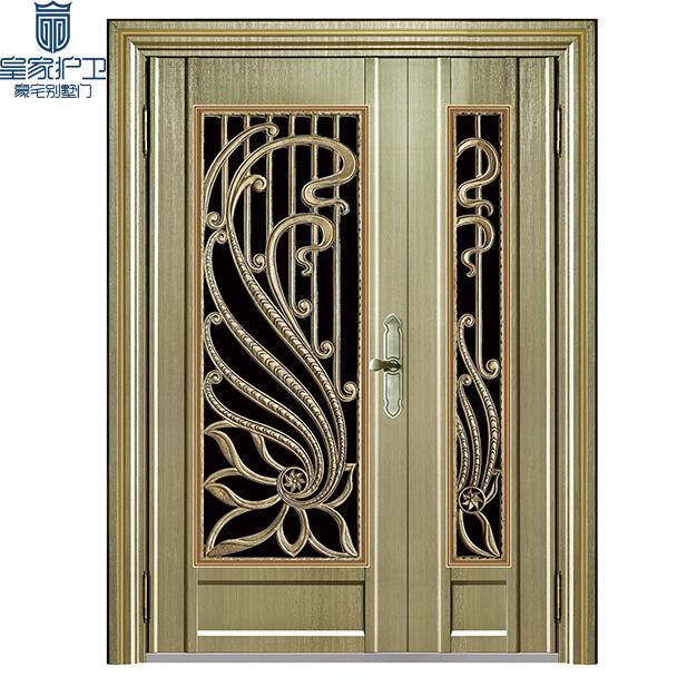 High end villa door - color steel 02