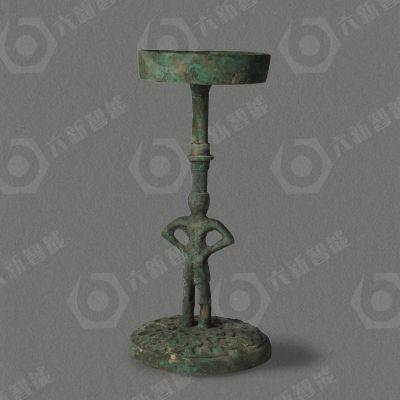 西汉人立铜灯(六新复制品)