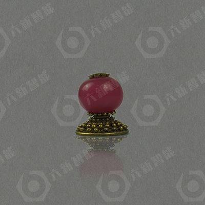 红珊瑚顶珠(二品)(六新复制品)