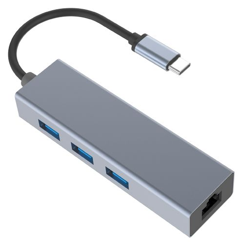 120069  4-in-1 TYPE-C to USB3.0*3+RJ45
