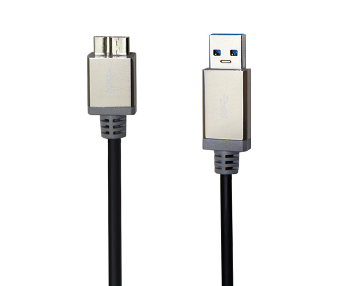 USB A Male to USB Micro Male Cable with Colorful Metal Shell