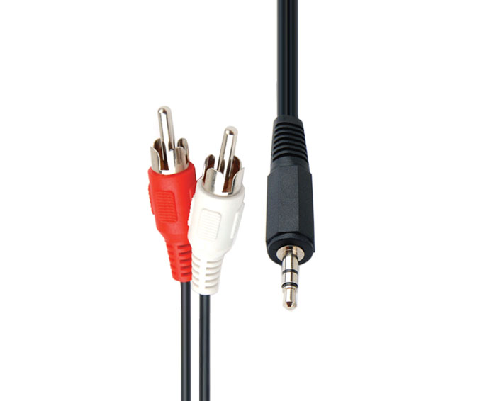 2RCA Male to DC 3.5mm Male Audio and Video Cable