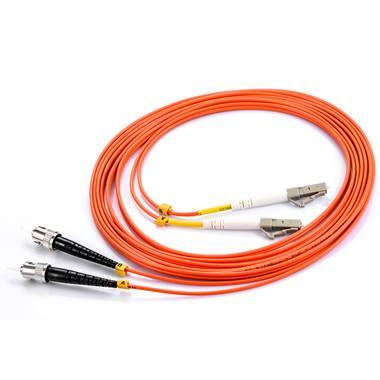 LC-ST Duplex MM Fiber Optic Patch Cord