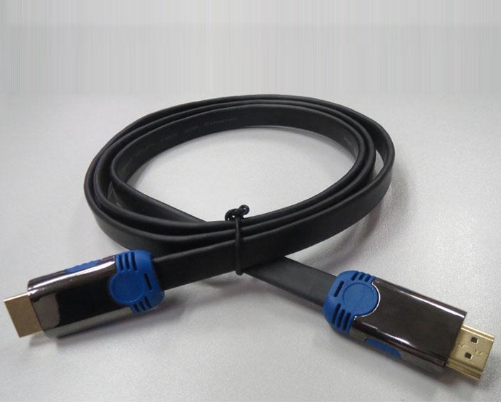 高速扁平HDMI线(双色金属外壳)