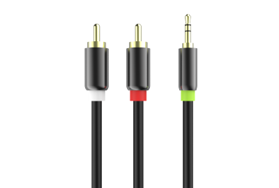 Premium 2 RCA to DC 3.5mm Audio Cable