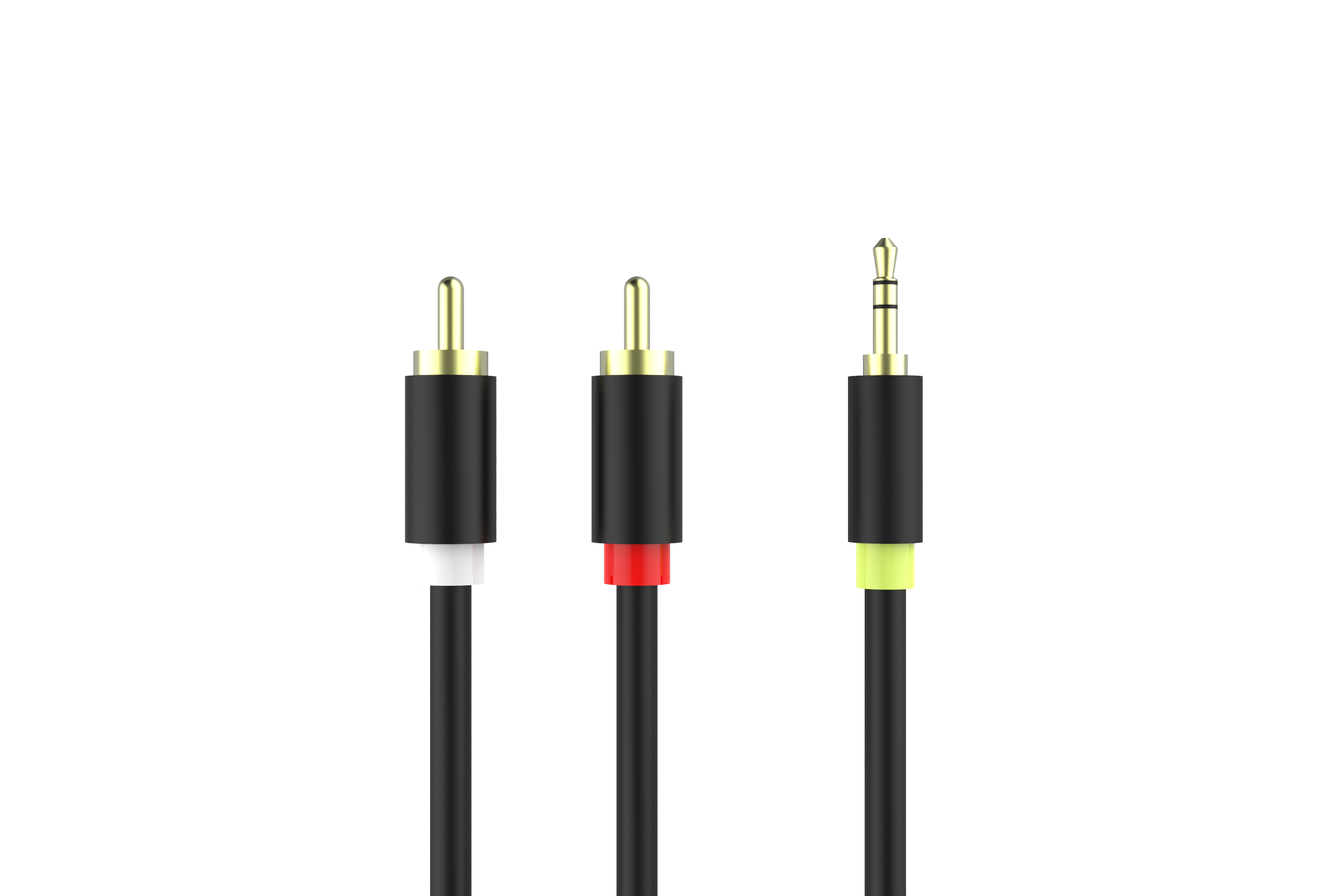 2 RCA to DC 3.5mm Audio Cable