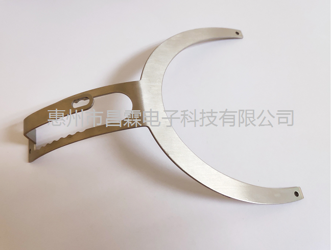 五金配件  耳機鋼叉 耳機鋼支架 啞黑耳機支架 亮黑耳機鋼叉 鋼條滑動臂