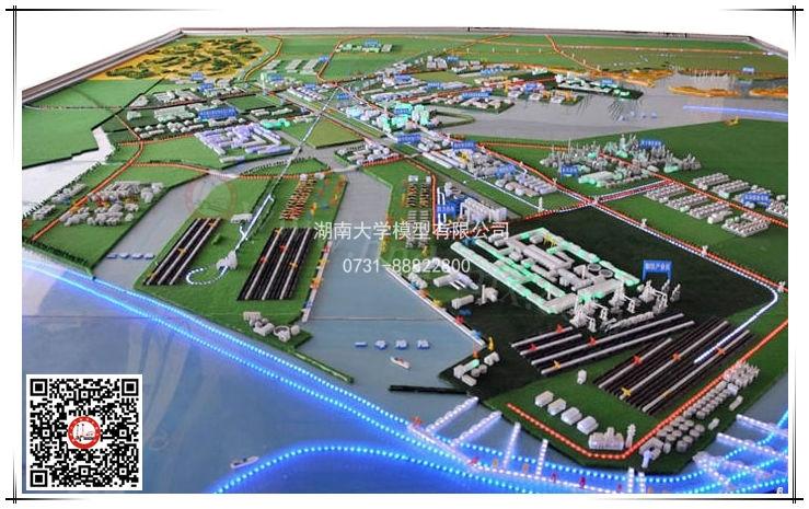 港口规划布局沙盘模型