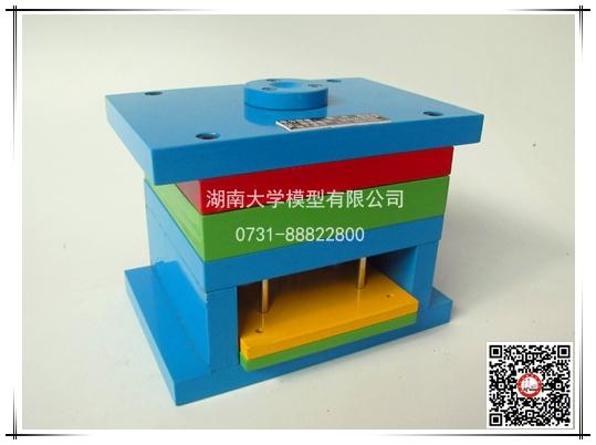 塑料模具教学模型-单分型面,一模二件,潜伏浇口,推管推出,复位杆得出