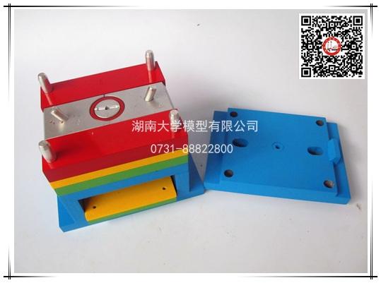 塑料模具教学模型-斜滑块、斜导柱动模、侧抽芯、推板推出-94877