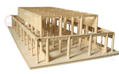 古建筑骨架模型
