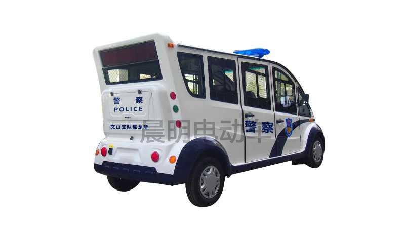 6座封闭式钣金电动巡逻车