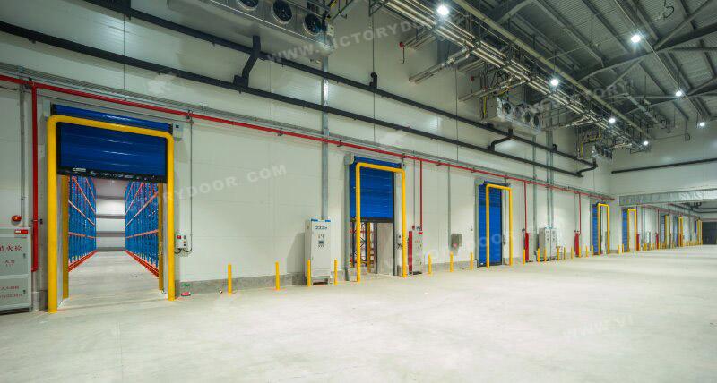 Energy-saving soft high-speed cold storage door