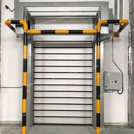Energy-saving hard high-speed cold storage door