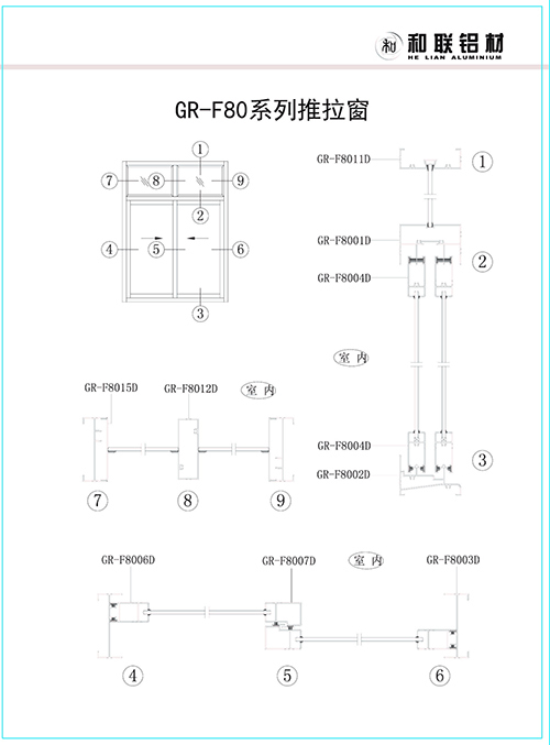 F80 series sliding window