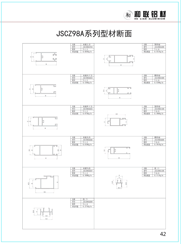 JSCZ98A系列推拉窗